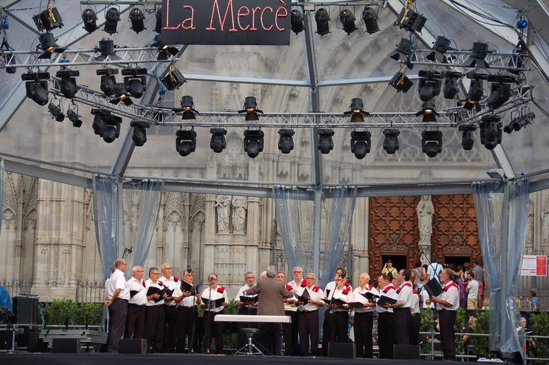 Concert de la Federació dels Cors de Clavé en la Mercè