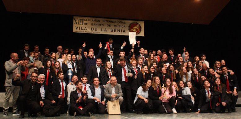 L'Escola Musical Santa Cecília de l'Olleria de València va endur-se el primer premi.