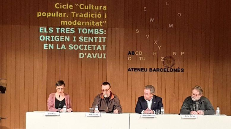 Una taula rodona sobre els Tres Tombs inaugura el cicle 'Cultura popular: tradició i modernitat'