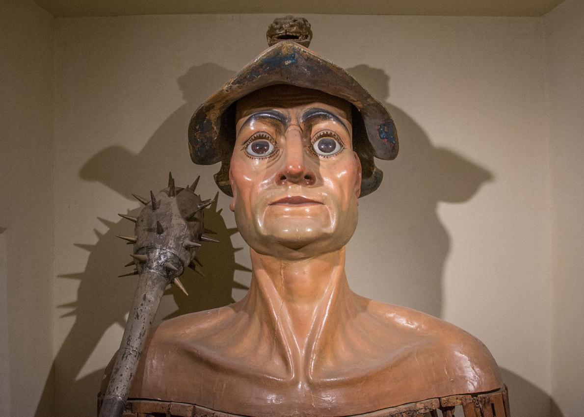 El gegant de Torroella de Montgrí que està exposat al Museu de la Mediterrània. | Fidel Torrent
