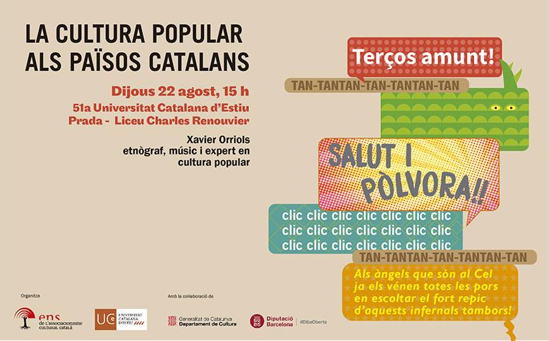Cartell promocional de la conferència de Xavier Orriols