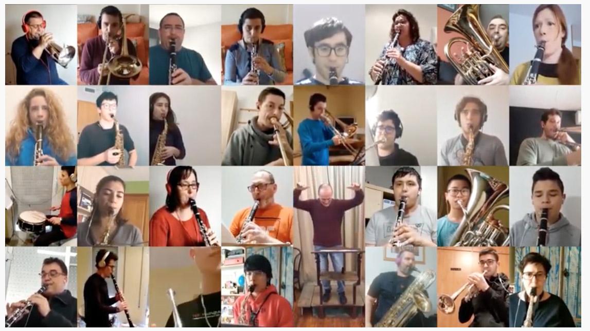 La FCSM i les bandes d'Amposta ofereixen un homenatge musical per Sant Jordi