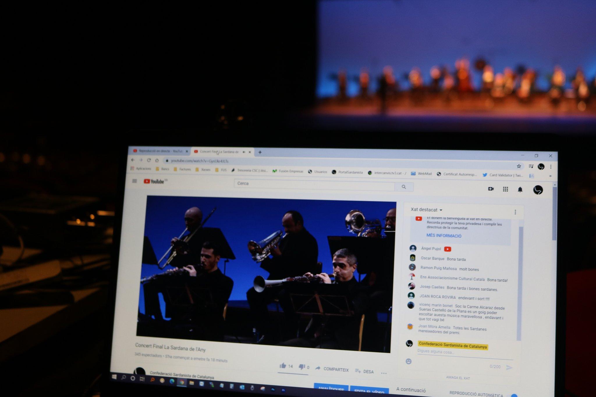 La final, retransmessa a través del Canal de Youtube, va duplicar els espectadors | Confederació Sardanista de Catalunya
