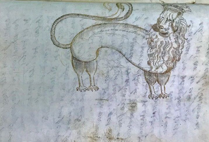 La imatge va ser trobada en un manuscrit de l'arxiu episcopal de Vic