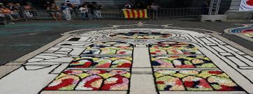 La Federació Catalana d'Entitats Catifaires participa a la gran festa de les catifes de Brussel·les