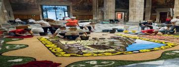 Les catifaires catalanes mostren el seu art al Palau de la Generalitat per la Diada