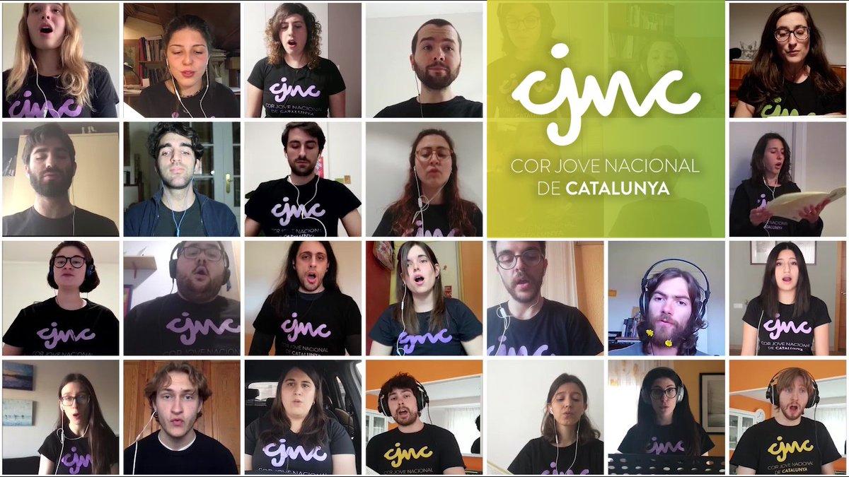 El Cor Jove Nacional de Catalunya 2019 durant el confinament. | MCC