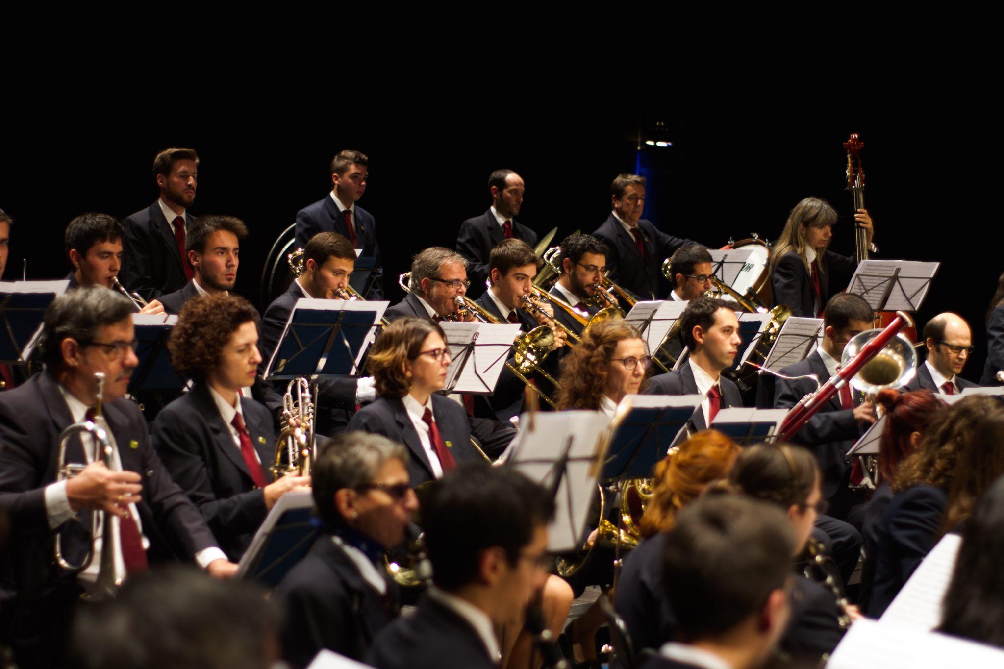 La Banda Unió Musical de Tarragona en plena actuació