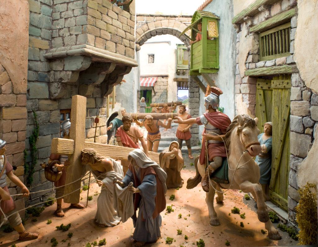 Diorami d'un calvari, obra d'Agustí Temens, de l'Associació de Pessebristes de Barcelona