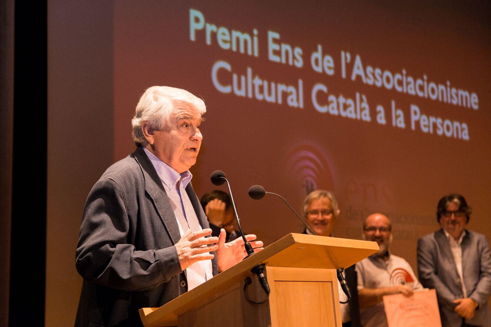 """Pere Baltà: """"L'ENS i Tornaveu han col·locat la cultura popular en un lloc destacat"""""""