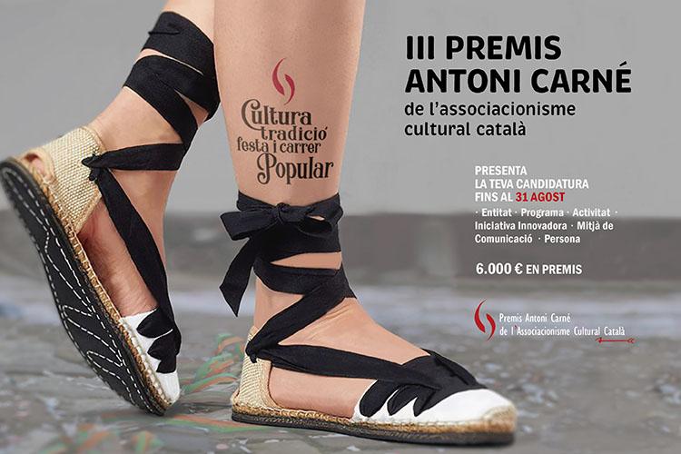 Cartell dels III Premis Antoni Carné.