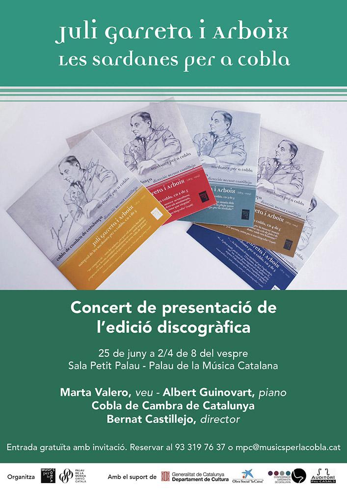 Enregistrament de la Cobla de Cambra de Catalunya a l'Auditori Pau Casals (El Vendrell).