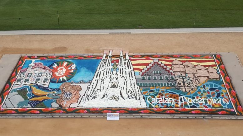 A l'Smithsonian Folklife de Washington, la FCEC ja va crear una catifa sobre la Sagrada Família.